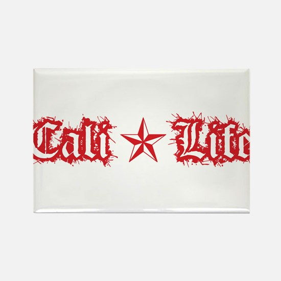 cali life 1a red Rectangle Magnet