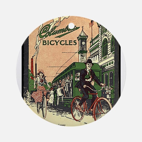 Columbia Bicycles old Vintage Adver Round Ornament