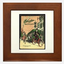 Columbia Bicycles old Vintage Advertis Framed Tile