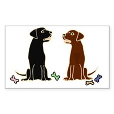 Black and Chocolate Labrador R Decal