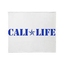 cali life 1b blue Throw Blanket