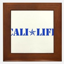 cali life 1b blue Framed Tile