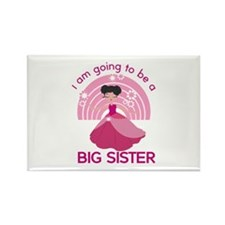 Big Sister - Princess Rectangle Magnet
