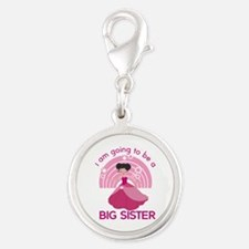 Big Sister - Princess Silver Round Charm