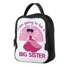 Big Sister - Princess Neoprene Lunch Bag
