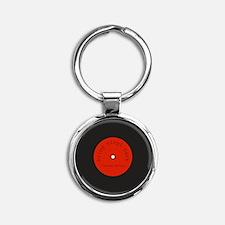 Bring Vinyl Back   Round Keychain