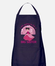 I Am Going To Be A Big Sister Apron (dark)