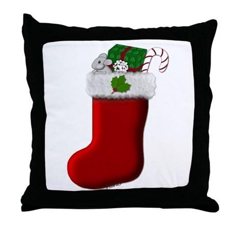 Filled Stocking Throw Pillow