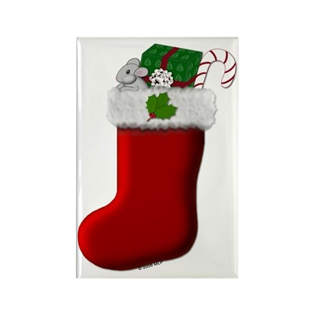 Filled Stocking Rectangle Magnet (10 pack)