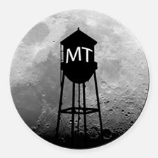Party at the Moon Tower Round Car Magnet