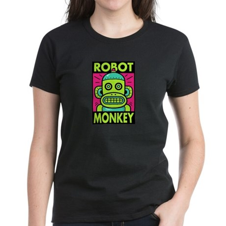 Robot Monkey Women's Dark T-Shirt