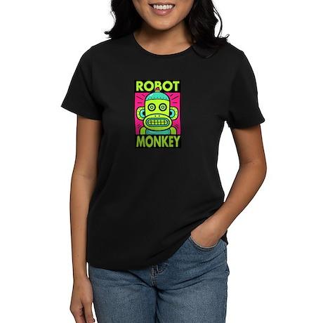 Robot Monkey Women's Dark T-Shirt