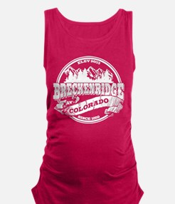 Breckenridge Old Circle White Maternity Tank Top
