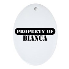 Property of Bianca Oval Ornament