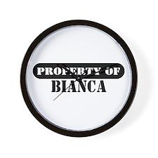 Property of Bianca Wall Clock