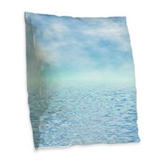 Sea of Serenity Burlap Throw Pillow