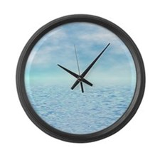 Sea of Serenity Large Wall Clock