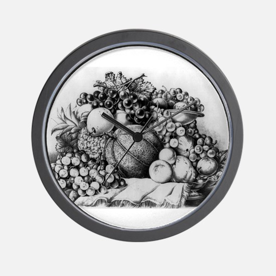 A Boquet of fruit - 1875 Wall Clock