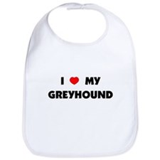 I Love my Greyhound Bib