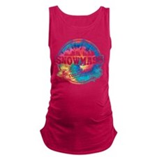 Snowmass Old Circle Black.png Maternity Tank Top