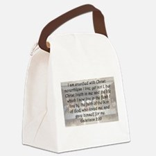 Galatians 2:20 Canvas Lunch Bag