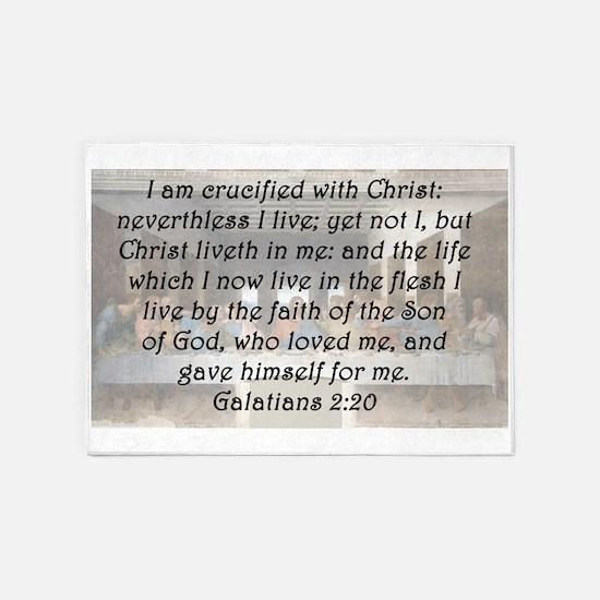 Galatians 2:20 5'x7'Area Rug