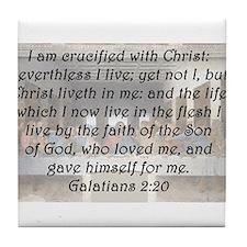 Galatians 2:20 Tile Coaster