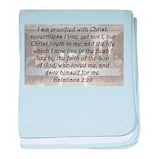 Galatians 2:20 baby blanket
