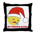 My Christmas Sucked Throw Pillow