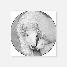 "White Buffalo+Calf ~ 3"" Lapel Sticker~48 pk S"