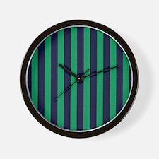 Classic green and dark blue striped Wall Clock