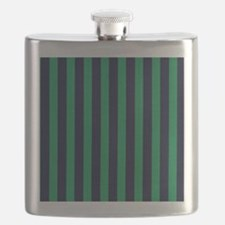 Classic green and dark blue striped Flask