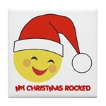 My Christmas Rocked Tile Coaster