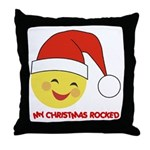 My Christmas Rocked Throw Pillow