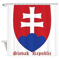 Slovak Republic Shower Curtain