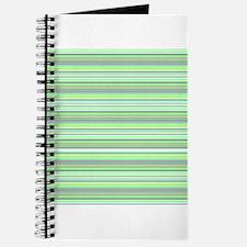 Retro Green Pinstripe Journal / Diary / Sketchbook