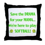Softball pillows Throw Pillows