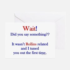 Say Something Rollins Greeting Card