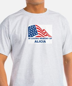 Loving Memory of Alicia Ash Grey T-Shirt