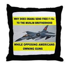 MUSLIM PLANES Throw Pillow
