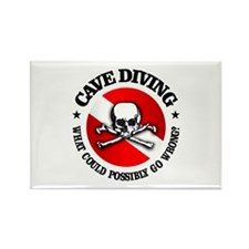 Cave Diving (Skull) Rectangle Magnet