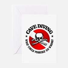 Cave Diving (Skull) Greeting Cards (Pk of 10)