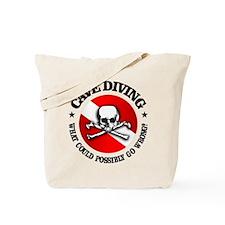 Cave Diving (Skull) Tote Bag