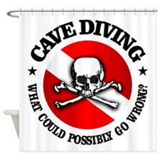 Cave Diving (Skull) Shower Curtain