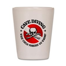 Cave Diving (Skull) Shot Glass