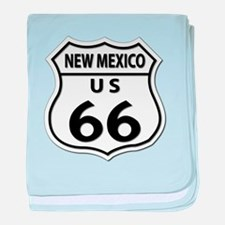U.S. ROUTE 66 - NM baby blanket