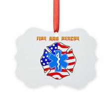Fire and Rescue Emblem Ornament