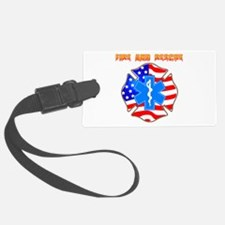 Fire and Rescue Emblem Luggage Tag