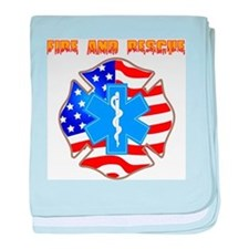 Fire and Rescue Emblem baby blanket