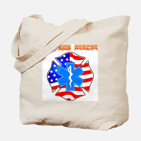 Fire and Rescue Emblem Tote Bag